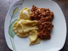 selbstgemachte Ravioli mit 2-Käse-Füllung - Rezept