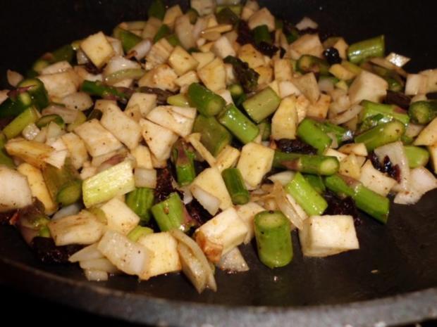 Pfannengericht: Gemüseragout mit Nudeln - Rezept - Bild Nr. 3