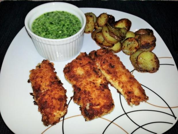 Fish Fingers mit Rahmspinat und Röstkartoffeln - Rezept