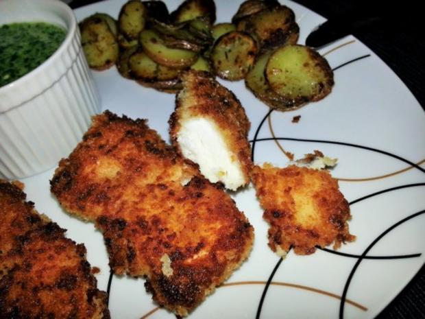 Fish Fingers mit Rahmspinat und Röstkartoffeln - Rezept - Bild Nr. 2