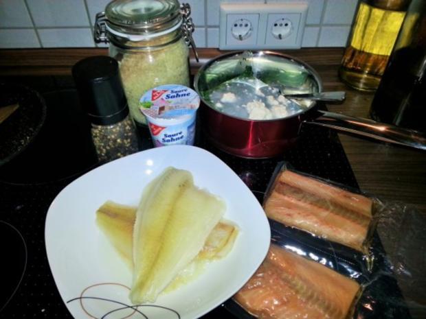 Fish Fingers mit Rahmspinat und Röstkartoffeln - Rezept - Bild Nr. 3