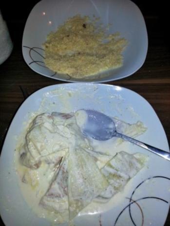 Fish Fingers mit Rahmspinat und Röstkartoffeln - Rezept - Bild Nr. 5