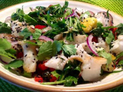 Heilbutt-Salat - Rezept