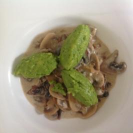 Bärlauch-Polenta-Nocken - Rezept