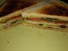 Sandwich mit Schinken und Salami - Rezept