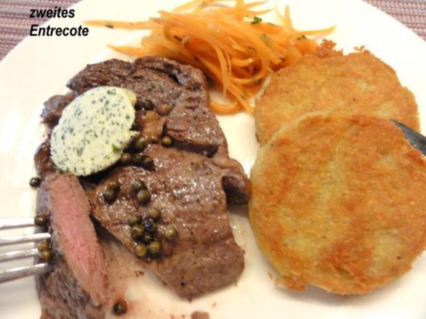 Fleisch:   ENTRECOTE`s  aus der Grillpfanne - Rezept - Bild Nr. 2