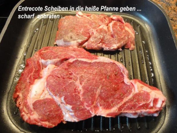 Fleisch:   ENTRECOTE`s  aus der Grillpfanne - Rezept - Bild Nr. 8