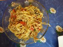 Würzige Knoblauchspaghetti - Rezept