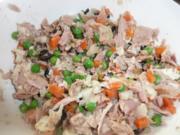 Tunfisch Salat  fein gewürzt mit  Sahne - Meerrettich ! - Rezept