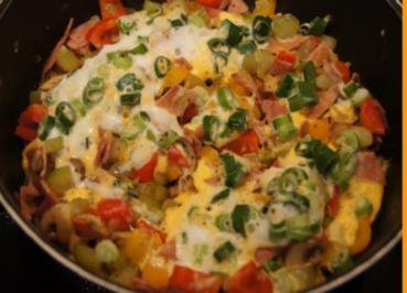 Pikantes Omelett mit Gemüse - Rezept