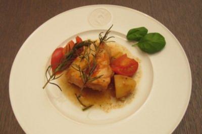 Rezept: Hähnchen toskanische Art mit Kartoffeln