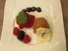 Himbeer- und Pfirsich-Lavendel-Sorbet - Rezept