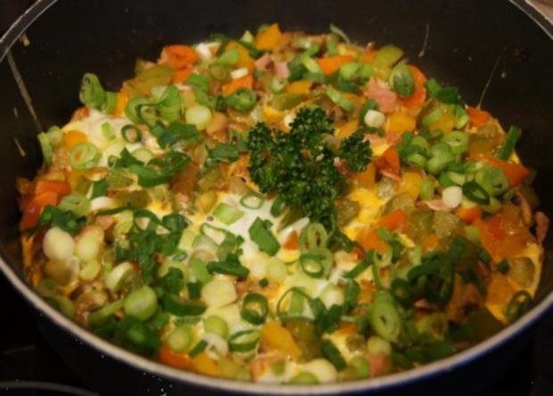 Pikantes Omelett mit Gemüse II - Rezept