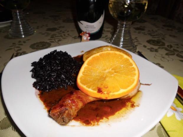 Hähnchen in Orangensoße>> - Rezept