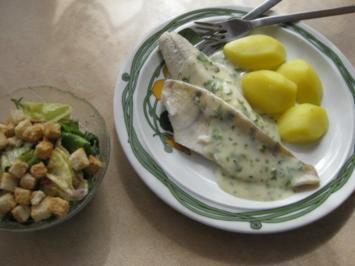 Rezept: Zanderfilet im Weißweinsud gedünstet