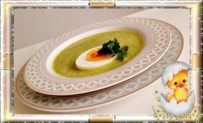 Rezept: Eine fruchtige  Avocado – Bärlauch- Cremesuppe