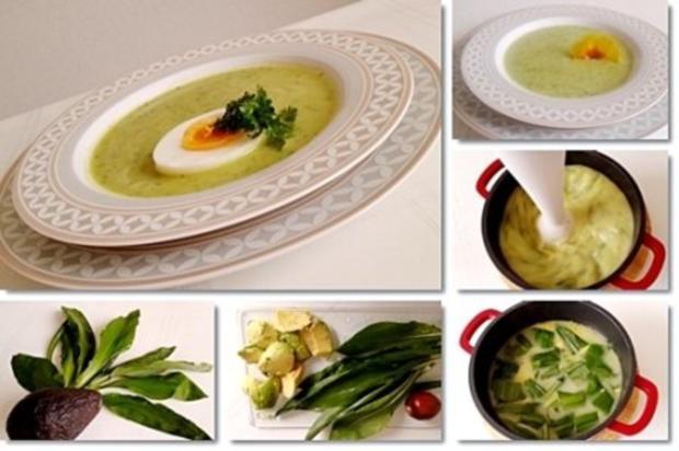 Eine fruchtige  Avocado – Bärlauch- Cremesuppe - Rezept - Bild Nr. 4