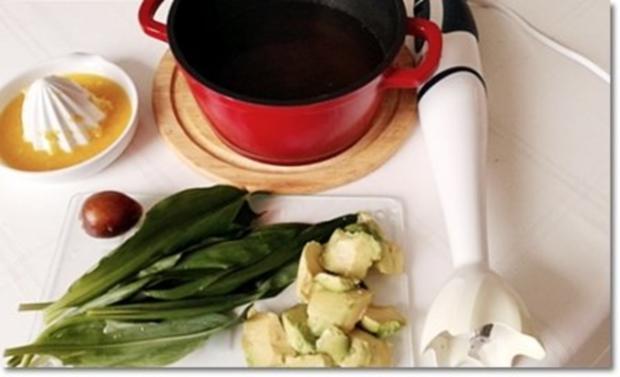 Eine fruchtige  Avocado – Bärlauch- Cremesuppe - Rezept - Bild Nr. 9