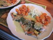 Saiblingsfilet aus dem Ofen mit Wasabi-Limetten-Sauce - Rezept