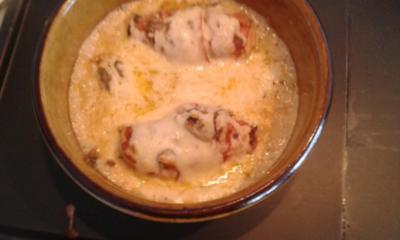 überbackene Hähnchenbrust mit Bacon - Rezept