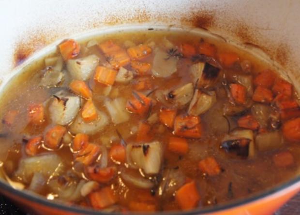 Lammkeule mit Buschbohnen und Mandelbällchen - Rezept - Bild Nr. 8