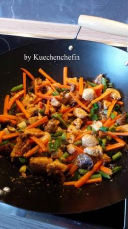 Thailändische Hühnchen-Gemüse Wokpfanne - Rezept - Bild Nr. 6