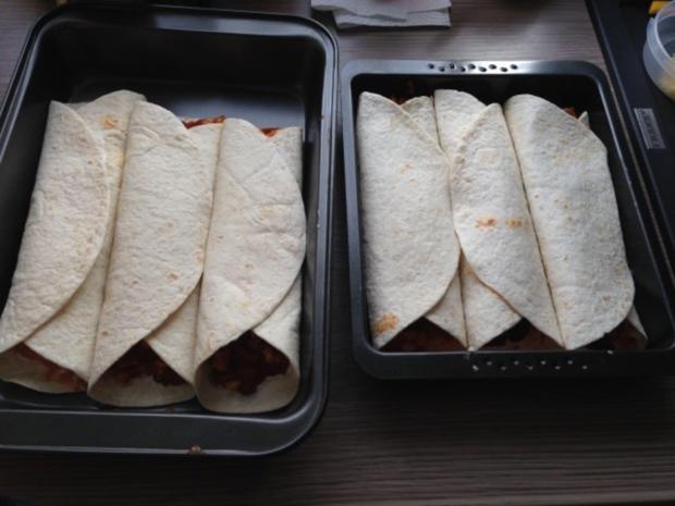 überbackene Tex-Mex-Wraps - Rezept - Bild Nr. 5
