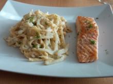 Lachs mit Fenchel-Pasta - Rezept