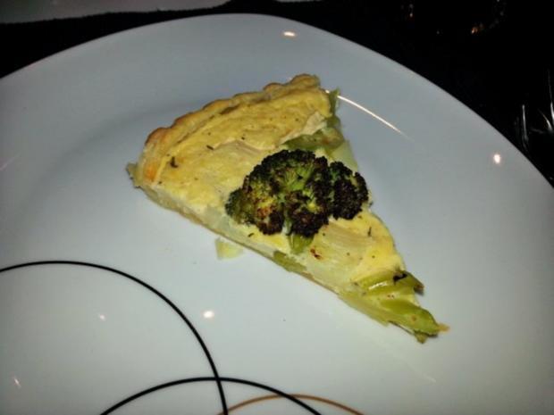 Brokkoli-Spargelquiche - Rezept
