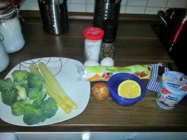 Brokkoli-Spargelquiche - Rezept - Bild Nr. 3