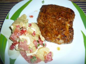 Rezept: Kartoffelsalat eines Bekannten zu Schwenkbraten.