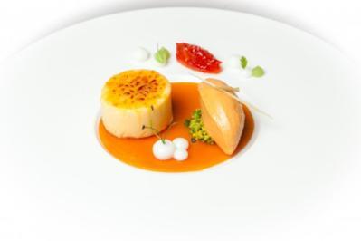 Ziegenkäse-Crème Brûlée mit Hagebuttengelee - Rezept