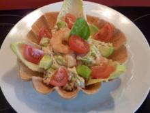 Avocado - Wildreis Salat mit Meeresfrüchte - Rezept