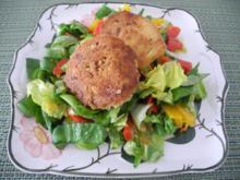6 Jahre Kochbar ---  Kichererbsen - Bratlinge auf Salat - Rezept