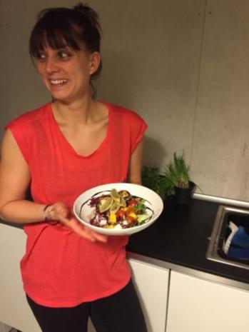 Grüner Salat mit gebackenem Ziegenkäse - Rezept - Bild Nr. 5