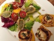 Grüner Salat mit gebackenem Ziegenkäse - Rezept