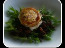 Salat von Linsen und Rucola mit gratiniertem Ziegenkäse - Rezept