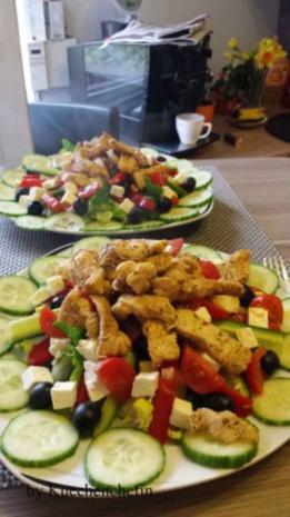 Salat mit Hähnchenstreifen - Rezept - Bild Nr. 2