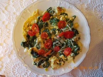 Spinat-Omelett - Rezept