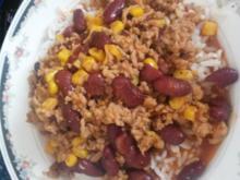 Chili con Carne fix mit Reis - Rezept