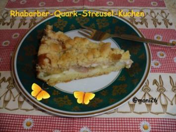 Rhabarber-Quark-Streusel-Kuchen - Rezept