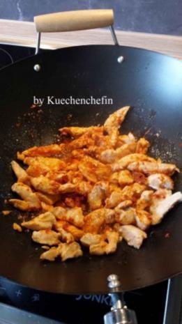 Indische Gemüsepfanne mit Hähnchenbrust - Rezept