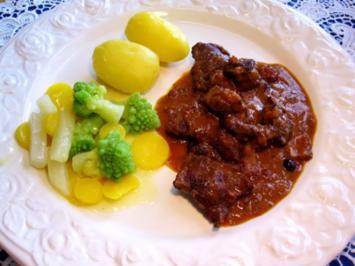 Hirsch-Edelgulasch - Rezept