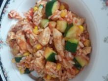 Reis Puten Gemüse Topf - Rezept