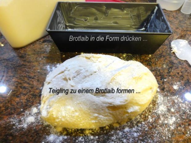 Brot:   BUTTERMILCHBROT  (750gr) - Rezept - Bild Nr. 3