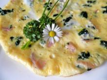Spinat - Omelett - Rezept
