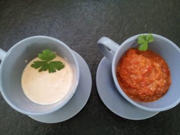 Grillen: ungarisches Duo  (Paprikadip und Paprikamajonäse) - Rezept