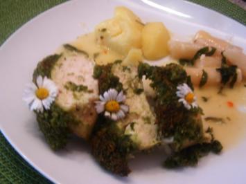 Hähnchenbrust mit Bärlauchkruste - Rezept