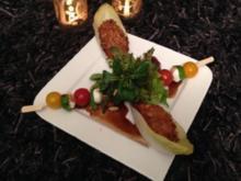 Bunter Salat mit Pute in Panko-/Sesamkruste - Rezept