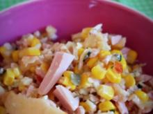 Fruchtiger Wurst-Käse-Salat; für den Thermomix - Rezept